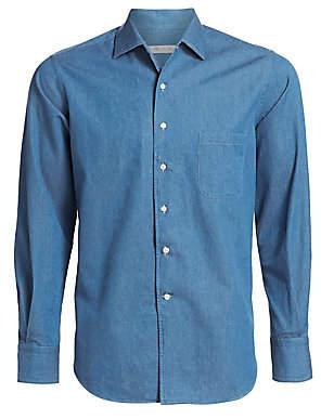 Loro Piana Men's Andre Denim Button-Down Shirt
