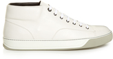 Lanvin Mid-top leather trainers
