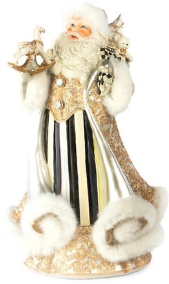 Mackenzie Childs Brocade Golden Hour Santa Figurine