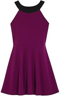 Aqua Girls' Color-Block Fit-and-Flare Dress, Big Kid - 100% Exclusive
