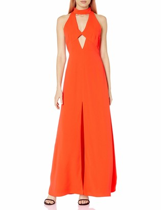 Jill Stuart Jill Women's High Neck Cut Out Gown