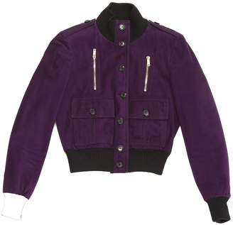 Gucci Purple Suede Jackets