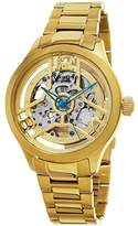 Stuhrling Original Men's Automatic Watch with Gold Dial Analogue Display and Gold Stainless Steel Bracelet 784.03