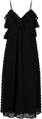Zimmermann Ruffle Textured Slip Dress