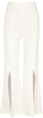 Roland Mouret Parkgate White Flared Trousers