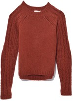 Forte Forte Baby Alpaca Torchon Sleeve Sweater in Rust