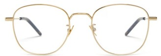 Saint Laurent Round Metal Glasses - Gold