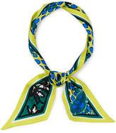 Henri Bendel Whimsy Abstract Skinny Mini Scarf