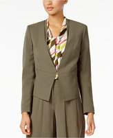 Nine West Crepe Kiss-Front Blazer