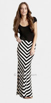 Black White Stripe Skirt by eDressMe Private Collection