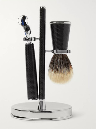 Lorenzi Milano Three-Piece Carbon-Fibre Shaving Set