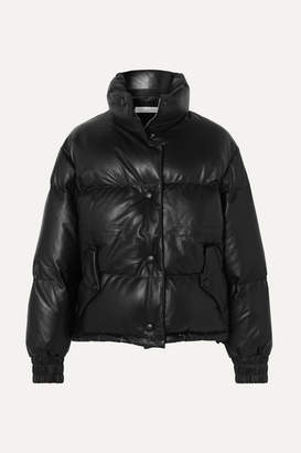 Golden Goose Yuri Quilted Leather Down Jacket - Black