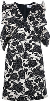 MSGM floral print fitted dress - women - Cotton/Linen/Flax/Polyester - 42