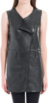 Max Studio Leatherette Asymmetrical Zip Tunic