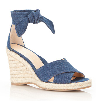 Marion Parke Leah Denim Wedge Espadrille Sandals