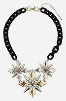 Topshop Spike Flower Collar Necklace