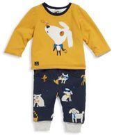Catimini Baby's Two-Piece Reversible Printed Tee and Printed Sweatpants Set