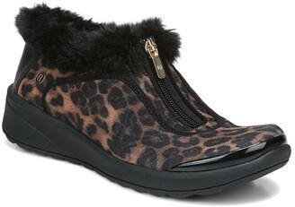 Bzees Golden Zip Faux Fur Sneaker