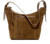 Lucky Brand Rose Suede Hobo Bag