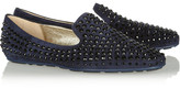 Jimmy Choo Wheel studded suede slippers