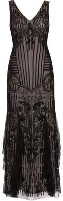 Gina Bacconi Jamila Beaded Maxi Dress