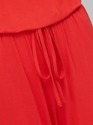 Very Strapless Tie Waist Jumpsuit - Red