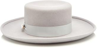Federica Moretti Wide-Brimmed Felt Top Hat