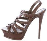 Saint Laurent Multistrap Platform Sandals