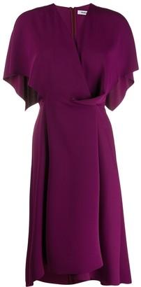 Chalayan Cape Detail Midi Dress