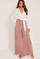 Missguided Super Wide Leg Palazzo Trousers Pink