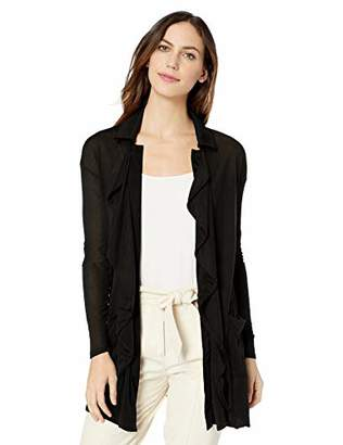 Three Dots Women's OL7448 Tencel Open Cardigan
