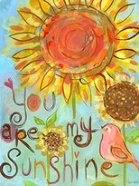 """Oopsy Daisy Fine Art For Kids NB20527 You Are My Sunshine Canvas Wall Art by Carter Carpin, 18"""" x 24"""""""