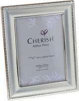 Arthur Price Silver Plated Bead Photograph Frame 5x7