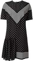 Stella McCartney dual pattern mini dress