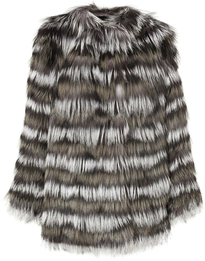 Etro Silver Fox Fur Coat