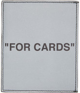 Off-White Off White Silver Quote Card Holder
