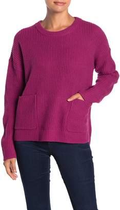MelloDay Two Pocket Crew Neck Sweater (Petite)