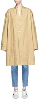 Bassike Detachable sleeve oversized cotton drill trench coat