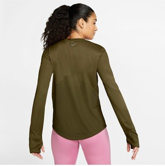 Nike Running Long SleeveMiler Top - Olive