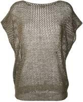 Fay net effect short sleeve top