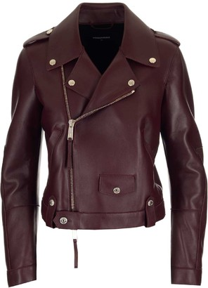 DSQUARED2 Spread Collar Biker Jacket