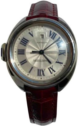 Cartier Cle Burgundy Steel Watches