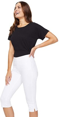 NYDJ Skinny Pull-On Capri Jeans in Optic White (Optic White) Women's Jeans