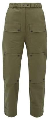 Symonds Pearmain - Patch-pocket Cotton Tapered-leg Trousers - Womens - Khaki