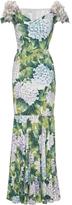 Dolce & Gabbana Appliquéd Floral-Print Gown