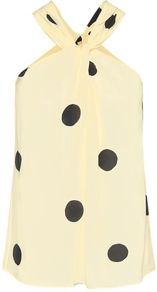 Theavant Knotted Top With Oversized Polka-Dots