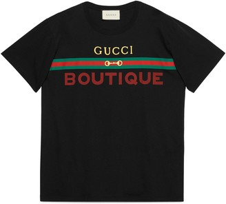 Gucci Men's Boutique print oversize T-shirt