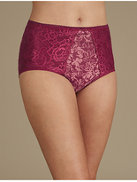 M&S Collection 2 Pack Firm Control Lace Full Brief Knickers