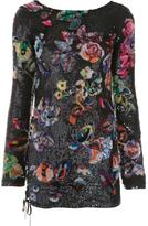 Anthony Vaccarello 'Flower Sequin' dress - women - Sequin/Silk - 36
