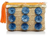 Milly Pom Pom Straw Clutch